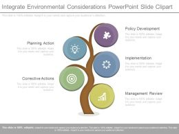 View Integrate Environmental Considerations Powerpoint Slide Clipart