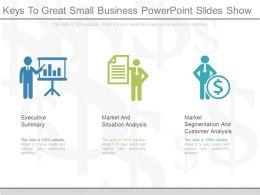 View Keys To Great Small Business Powerpoint Slides Show
