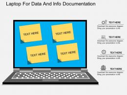 view Laptop For Data And Info Documentation Flat Powerpoint Design
