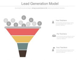 view Lead Generation Funnel Model For Sales And Marketing Powerpoint Slides