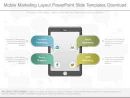 View Mobile Marketing Layout Powerpoint Slide Templates Download