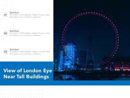 View Of London Eye Near Tall Buildings