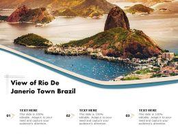 View Of Rio De Janerio Town Brazil