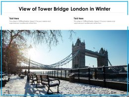 View Of Tower Bridge London In Winter