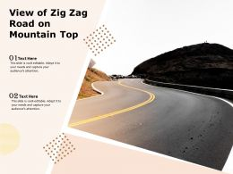 View Of Zig Zag Road On Mountain Top