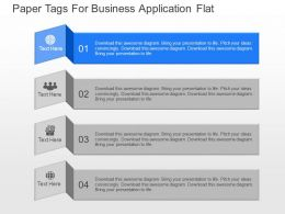 view Paper Tags For Business Application Flat Powerpoint Template