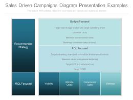 View Sales Driven Campaigns Diagram Presentation Examples