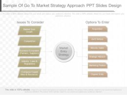 View Sample Of Go To Market Strategy Approach Ppt Slides Design