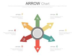 view Six Colored Arrows Chart And Icons For Business Flat Powerpoint Design