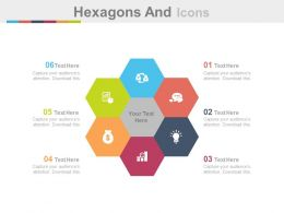 view Six Hexagons And Icons For Financial Analysis Flat Powerpoint Design