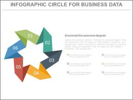 view Six Staged Infographics Circle For Business Data Flat Powerpoint Design