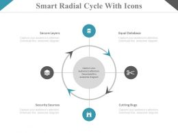 view Smart Radial Cycle With Icons Flat Powerpoint Design