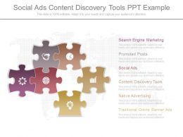 View Social Ads Content Discovery Tools Ppt Example
