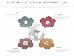 View Social Media As An Essential Component Ppt Powerpoint Layout