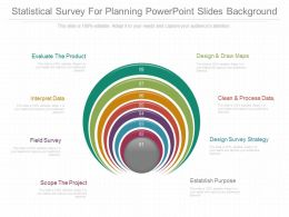 View Statistical Survey For Planning Powerpoint Slides Background