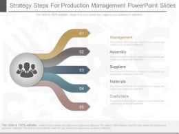 View Strategy Steps For Production Management Powerpoint Slides