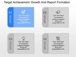 view Target Achievement Growth And Report Formation Powerpoint Template