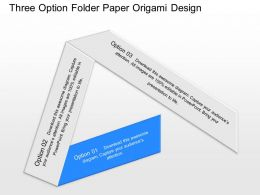 view Three Option Folder Paper Origami Design Powerpoint Template