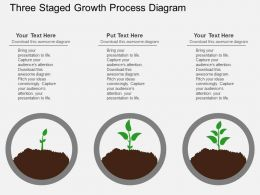 view Three Staged Growth Process Diagram Flat Powerpoint Design