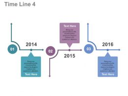 view_three_staged_linear_timeline_for_year_based_analysis_flat_powerpoint_design_Slide01
