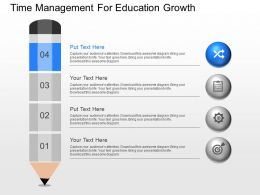 view Time Management For Education Growth Powerpoint Template