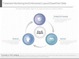 View Trademark Monitoring And Enforcement Layout Powerpoint Slide