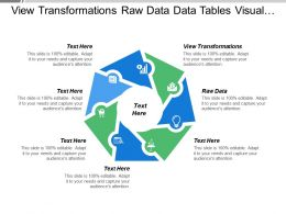 View Transformations Raw Data Data Tables Visual Structure