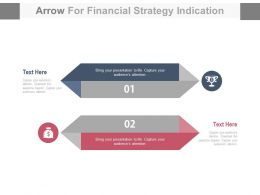 view Two Arrows For Financial Strategy Indication Flat Powerpoint Design