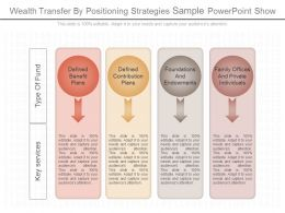 View Wealth Transfer By Positioning Strategies Sample Powerpoint Show