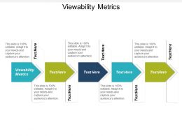 Viewability Metrics Ppt Powerpoint Presentation Infographics Graphics Tutorials Cpb
