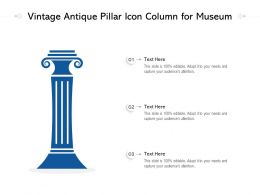 Vintage Antique Pillar Icon Column For Museum
