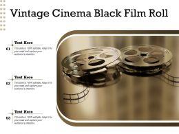 Vintage Cinema Black Film Roll