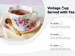 Vintage Cup Served With Tea