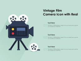 Vintage Film Camera Icon With Real