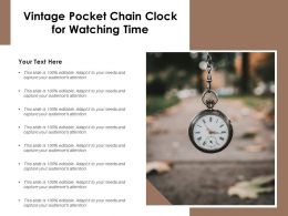Vintage Pocket Chain Clock For Watching Time