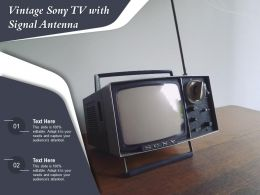 Vintage Sony TV With Signal Antenna