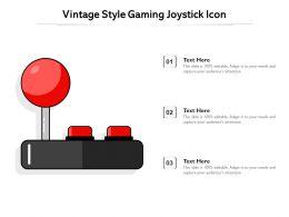 Vintage Style Gaming Joystick Icon