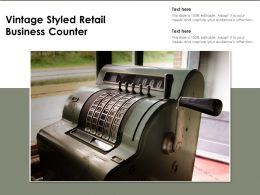 Vintage Styled Retail Business Counter