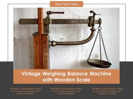 Vintage Weighing Balance Machine With Wooden Scale