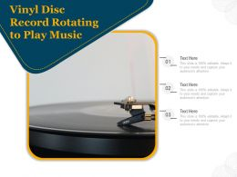 Vinyl Disc Record Rotating To Play Music