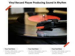 Vinyl Record Player Producing Sound In Rhythm