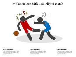 Violation Icon With Foul Play In Match