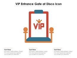 VIP Entrance Gate At Disco Icon