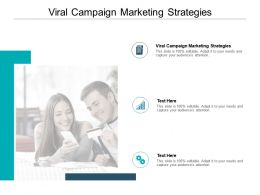 Viral Campaign Marketing Strategies Ppt Powerpoint Presentation Professional Cpb