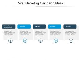 Viral Marketing Campaign Ideas Ppt Powerpoint Presentation Infographics File Formats Cpb