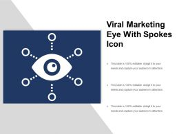 Viral Marketing Eye With Spokes Icon