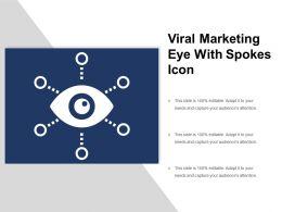 Viral Marketing Eye With Spokes Icon
