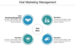 Viral Marketing Management Ppt Powerpoint Presentation Infographic Template Structure Cpb