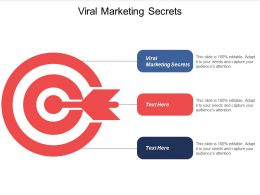 Viral Marketing Secrets Ppt Powerpoint Presentation Infographics Brochure Cpb