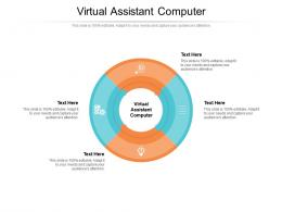 Virtual Assistant Computer Ppt Powerpoint Presentation File Gridlines Cpb